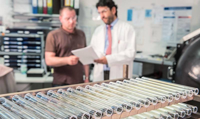 Glas-Plus Nanobeschichtung von Glasröhren